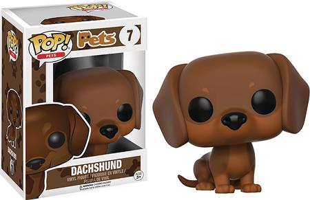 POP PETS DACHSHUND BROWN VINYL FIG (C: 1-1-2)