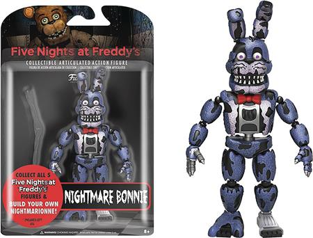 FIVE NIGHTS AT FREDDYS NIGHTMARE BONNIE 5IN ACTION FIGURE (C