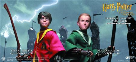 HARRY POTTER CHAMBER OF SECRETS 1/6 HARRY & DRACO QUIDDITCH