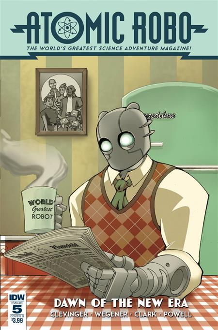 ATOMIC ROBO & DAWN OF NEW ERA #5 (OF 5) CVR A WEGENER