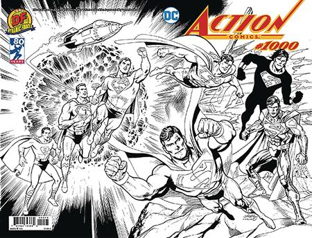 DF ACTION COMICS #1000 WRAPAROUND B&W EXC JURGENS