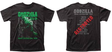 GODZILLA WORLD DESTRUCTION TOUR T/S LG (C: 1-1-0)