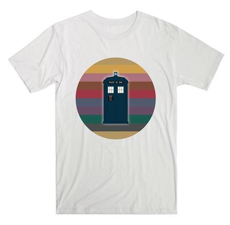 DOCTOR WHO 13TH DOCTOR RAINBOW CIRCLE TARDIS T/S LG (C: 1-1-