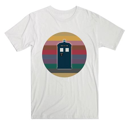 DOCTOR WHO 13TH DR RAINBOW CIRCLE TARDIS LADIES T/S MED (C: