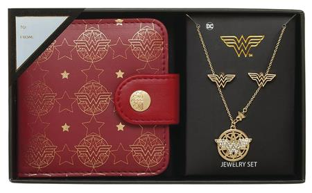 DC WONDER WOMAN JEWELRY SET WITH MIRROR