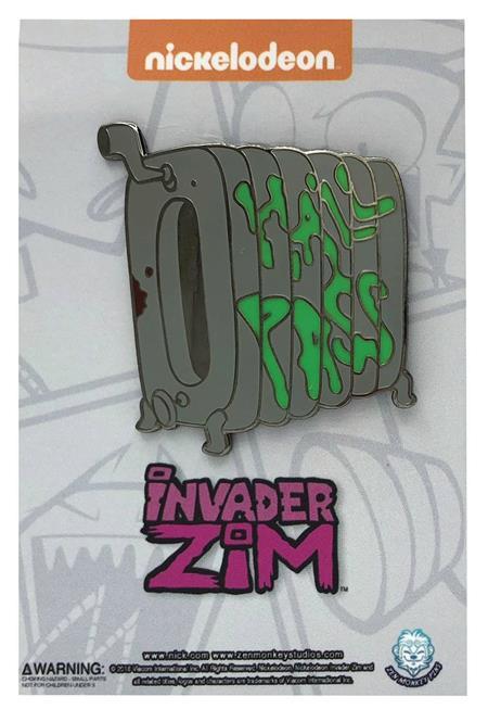 INVADER ZIM HALL PASS PIN (C: 1-1-2)