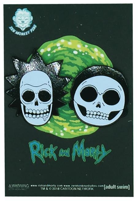 RICK AND MORTY X-RAY SKULLS 2 SET PINS (C: 1-1-2)