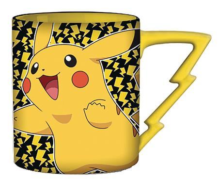 POKEMON PIKACHU HAPPY BOLT 20OZ SHAPED HANDLE MUG (C: 1-1-2)