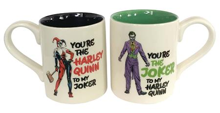 DC HEROES ONIM HARLEY AND JOKER MUG SET (C: 1-1-2)