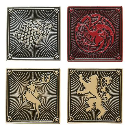 GAME OF THRONES HOUSES 4PC LAPEL PIN SET (C: 1-0-2)