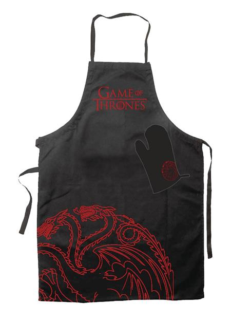 GAME OF THRONES TARGARYEN APRON AND OVEN MITT SET (C: 1-1-2)