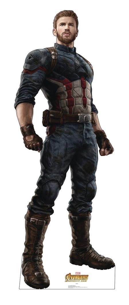 MARVEL INFINITY WAR CAPTAIN AMERICA LIFE-SIZE STAND UP (C: 1