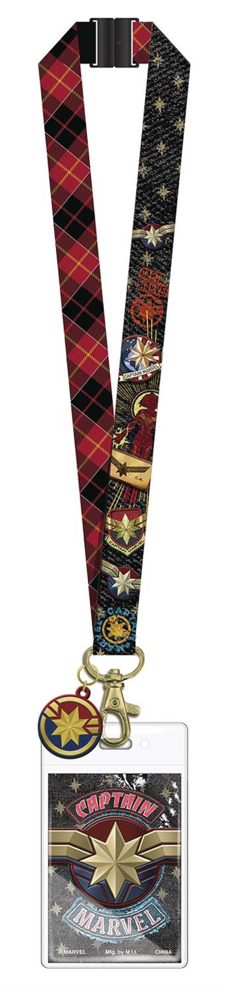 CAPTAIN MARVEL LANYARD WITH CHARM (C: 1-1-2)