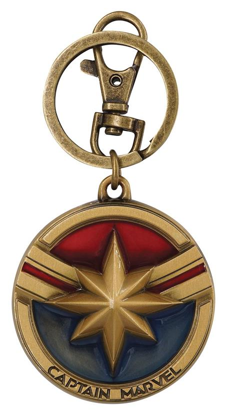 CAPTAIN MARVEL PEWTER KEY RING (C: 1-1-2)