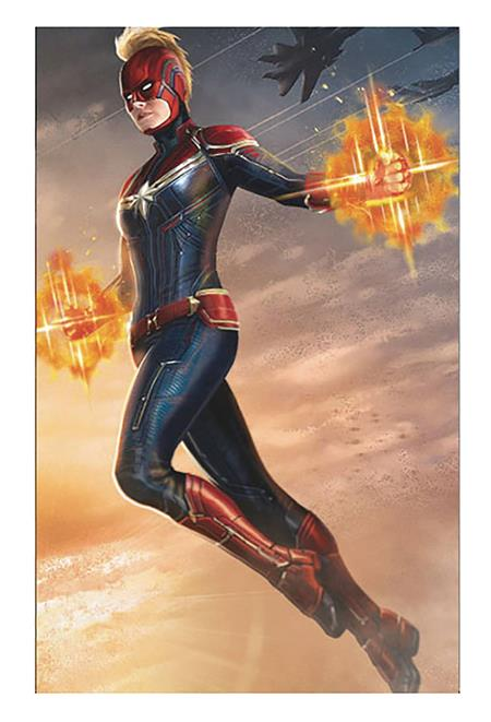CAPTAIN MARVEL BATTLE 11X17 FRAMED PRINT (C: 1-1-2)
