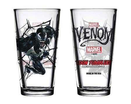 TOON TUMBLERS MARVEL COMIC VENOM PINT GLASS (C: 1-1-2)