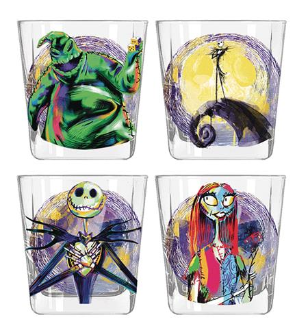 NBX SPLATTER CHARACTERS 4PC 9OZ ROCKS GLASS SET (C: 1-1-2)