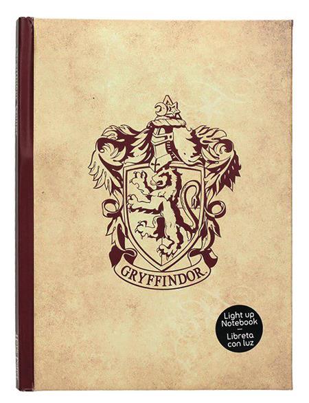 HARRY POTTER GRYFFINDOR LIGHT UP NOTEBOOK (C: 1-1-1)