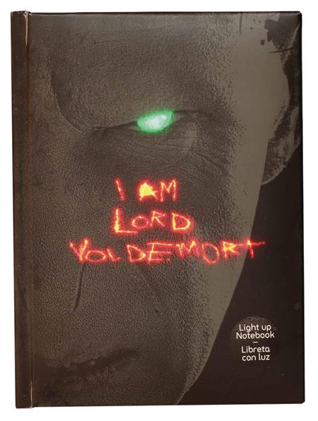 HARRY POTTER LORD VOLDEMORT LIGHT UP NOTEBOOK (C: 1-1-2)