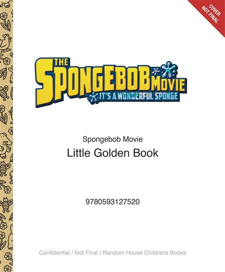 SPONGEBOB MOVIE LITTLE GOLDEN BOOK (C: 0-1-0)