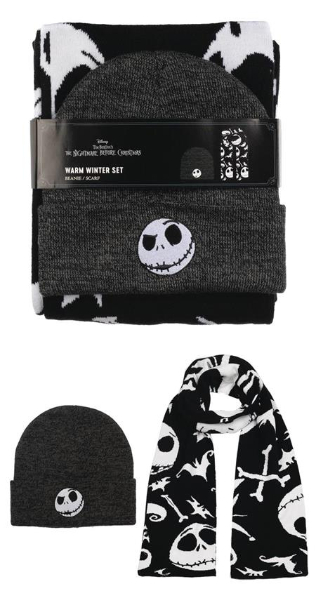NIGHTMARE BEFORE CHRISTMAS BEANIE & SCARF COMBO (C: 0-0-2)