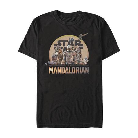 STAR WARS THE MANDALORIAN CHARACTER LOGO T/S LG (C: 1-1-2)