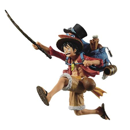 ONE PIECE THREE BROTHERS MONKEY D LUFFY FIG (C: 1-1-2)