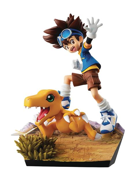 GEM SER DIGIMON ADV TAI & AUGUMON 20TH ANN PVC STATUE (C: 1-