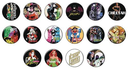 DC HEROES WOMEN OF DC PX 144PC BUTTON ASST (C: 1-1-2)