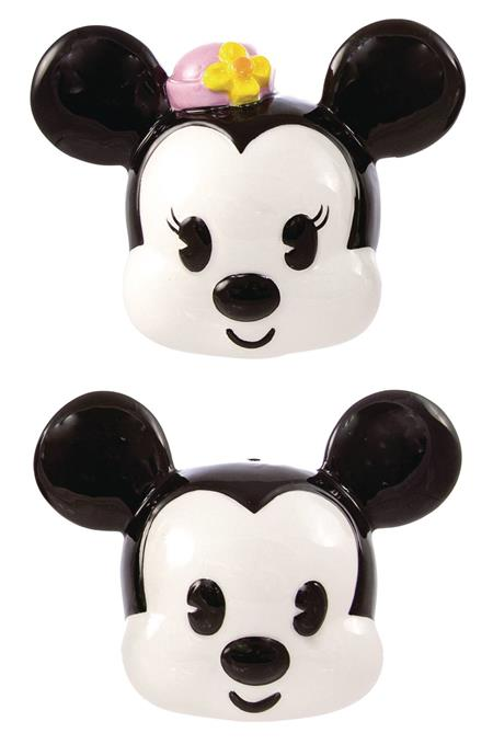 DISNEY MICKEY & MINNIE HEADS SALT & PEPPER SHAKER 2PC SET (C
