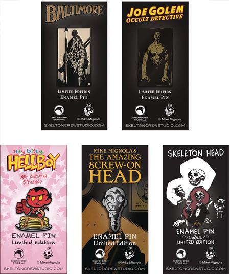 HELLBOY MIGNOLAVERSE LTD ED ENAMEL PIN 8PC ASST (C: 1-1-1)