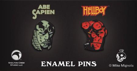 HELLBOY HELLBOY & ABE SAPIEN 2PK LTD ED ENAMEL PIN 4PC ASST