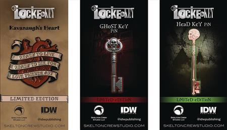 LOCKE & KEY LTD ED ENAMEL PIN 6PC ASST (C: 1-1-1)