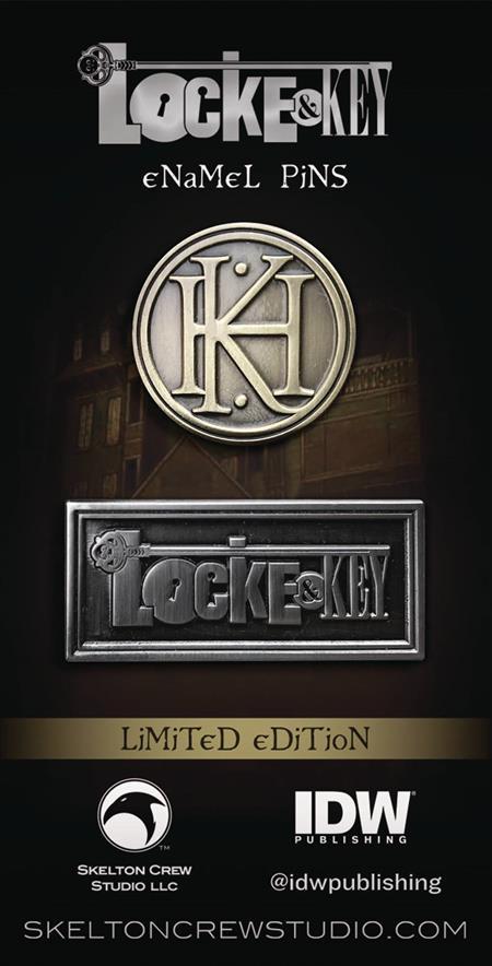 LOCKE & KEY LTD ED ENAMEL PIN 4PC ASST (C: 1-1-1)