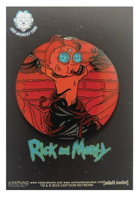 RICK AND MORTY DEATH CRYSTAL MORTY IN FORTRESS PIN (C: 1-1-2