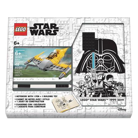 LEGO STAR WARS NABOO FIGHTER NOTEBOOK AND PEN RECRUIT BAG (N