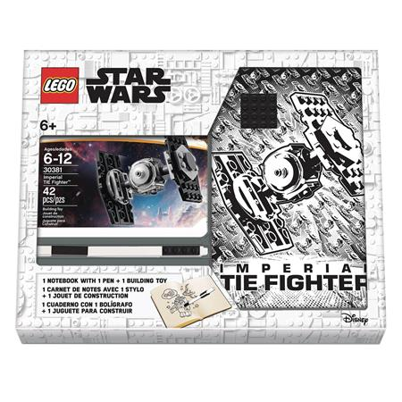 LEGO STAR WARS TIE FIGHTER NOTEBOOK AND PEN RECRUIT BAG (Net