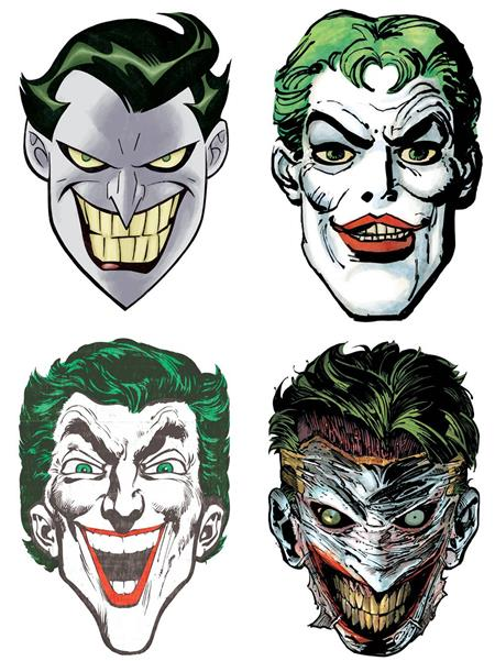 JOKER 80TH ANNIVERSARY PAPER MASKS (SET OF 4)