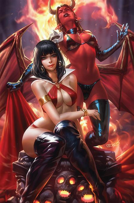 VAMPIRELLA VS PURGATORI #1 CHEW LTD VIRGIN CVR