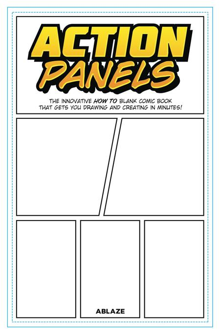 ACTION PANELS INNOVATIVE HOW TO BLANK COMIC BOOK JOURNAL (C: