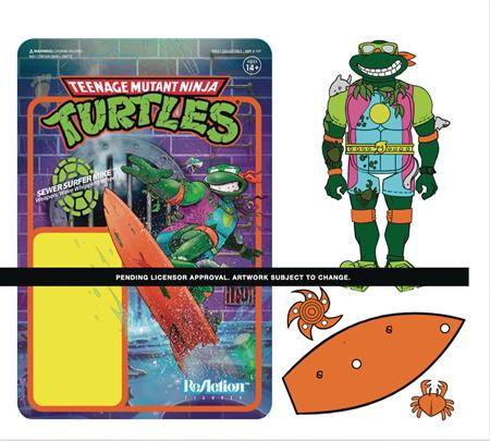 TMNT SEWER SURFER W3 REACTION FIGURE (Net) (C: 0-1-2)