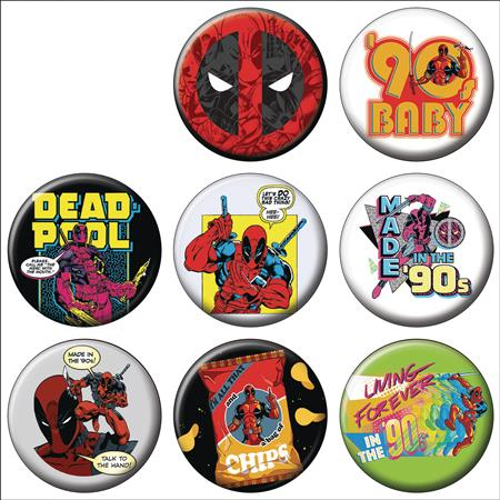 DEADPOOL 30TH ANNIVERSARY 144PC BUTTON ASST DIS (C: 1-1-2)