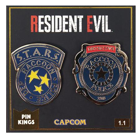 PIN KINGS RESIDENT EVIL RACCOON POLICE PIN SET (Net) (C: 1-1