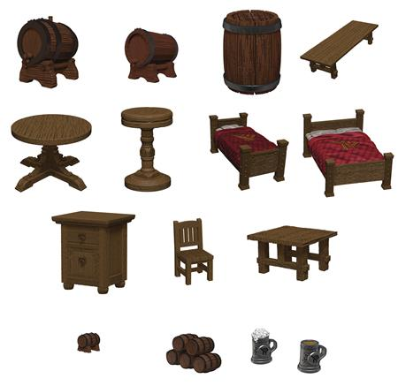 D&D ICONS REALMS MINIS YAWNING PORTAL BEDS & BOTTLES (C: 0-1