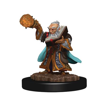 D&D ICONS REALMS PREMIUM FIG GNOME WIZARD MALE (C: 0-1-2)