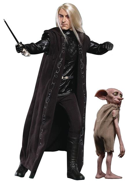HP & THE GOBLET OF FIRE LUCIUS MALFOY W/DOBBY 1/6 COLL AF (N