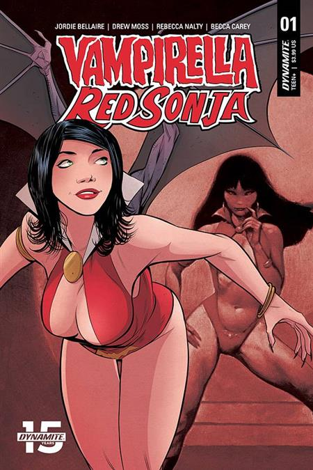 RED SONJA VAMPIRELLA #1 CVR E MOSS THEN NOW