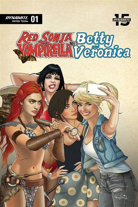 RED SONJA VAMPIRELLA BETTY VERONICA #1 SELFIE LTD CVR (C: 0-