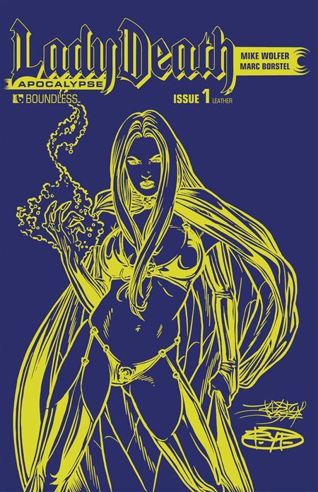 LADY DEATH APOCALYPSE #1 AZURE LEATHER (MR)