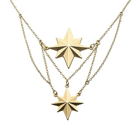 CAPTAIN MARVEL TIER STAR NECKLACE (C: 1-1-2)
